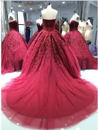wine red wedding. Luxury Princess Wine Red Wedding Dresses 2018 New Ball Gown