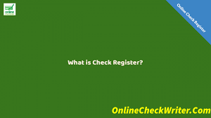Online Checkbook Register Online Check Register Electronically Store Your Check Record