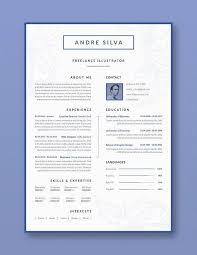 Elegant Resume Template Mesmerizing Elegant Resume CV Template