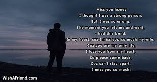 Missing You Poems For Wife Awesome Missing My Wife