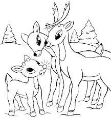 Coloring Pages Of Santa Claus And Reindeer By Reindeer Coloring