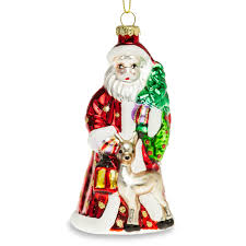 Details Zu Sikora Weihnachtsbaum Anhänger Christbaumschmuck Glas Figur Weihnachtsmann 13cm