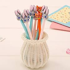 crazy office supplies. 4 Pcs/lot Cartoon Crazy Animal Rabbit Gel Pen Kawaii Stationery Pens Canetas Material Escolar Office Supplies