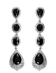 living surprising cubic zirconia chandelier earrings