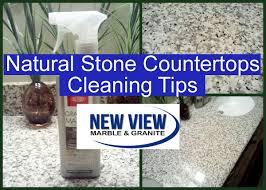 natural stone countertops cleaning tips