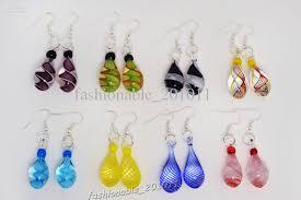 angel tears drop multi color charm glass beads dangle earrings brand new e53 earring dangle glass earring with 14 72 pair on fashionable 201011 s