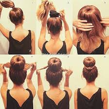 how to make a bun with long hair