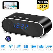 wirelss <b>Table Clock 1080P HD</b> Mini Camera Alarm Setting Camera ...