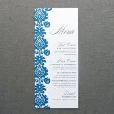 Menu Card Template Menu Card Template Rococo Design
