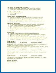Resume Personal Attributes Templates Best of Resume Skills And Attributes Personal Attributes Resume Examples