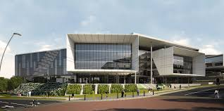 office facade. Star-shaped Schneider Electric Building In South Africa Aims For LEED Gold Certification Office Facade ,