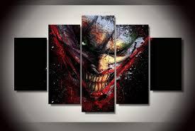 joker dc comic wall canvas art