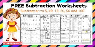 Printable phonics worksheets for kids. Free Subtraction Worksheets Year 1 Year 2 The Mum Educates
