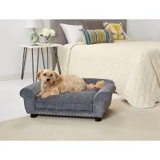 enchanted home pet dreamcatcher velvet dog sofa with cushion com