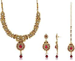 Buy Ava Traditional Jewellery Set For Women Gold S Vs 016