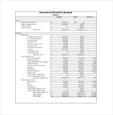 Excel Monthly Budget Spreadsheet 12 Sample Monthly Budget Spreadsheet Templates Word Excel Free