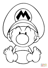 Small Picture Baby Mario coloring page Free Printable Coloring Pages