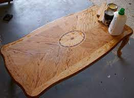 coffee table and remove a bad water stain