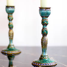 Decorative Candle Holders Peacock Feather Vintage Effect Decorative Candlestick By Made With