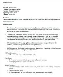 mis manager resume hr manager job description template mis executive job