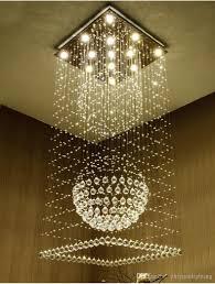 pendant lighting fixture. Contemporary Square Crystal Chandeliers Raindrop Flush Ceiling Light Stair Pendant Lights Fixtures Hotel Villa Ball Shape Lamp Spiral Chandelier Lighting Fixture T