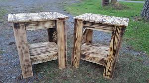 pallet wood side tables easy pallet ideas