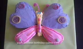 Cool Homemade 1st Birthday Butterfly Cake