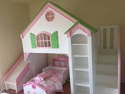 Tanglewood Designs Dollhouse Loft Bed With Slide And Staircase Loft Bed Plans