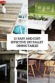 diy pallet outdoor dinning table. 13 Easy And Cost-Effective DIY Pallet Dining Tables Diy Outdoor Dinning Table