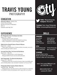 photographers resume travis young cv