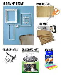 diy chalk frame diy chalkboard ideas