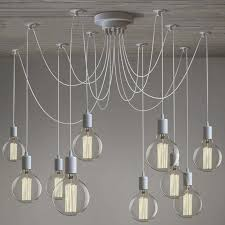 gracefully white 10 light industrial style multi light pendant swag pendant lighting