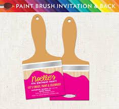 printable invitations for kids art paint brush party invitation unique printable birthday