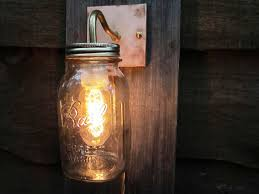 image of rustic plug in wall sconce