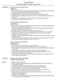 Healthcare Professional Resume Sample Healthcare Sales Resume Samples Velvet Jobs