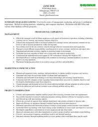 Management Resume Examples Mesmerizing Management Resume Sample Resume Samples Printable Management Resume