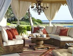 mediterranean outdoor furniture. grand mediterranean cabana in outdoor patio design featuring incredible tenting with drapes and ornate chandelier hanging over seagrass furniture r