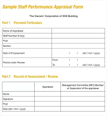 Appraisal Templates Enchanting Sample Job Performance Evaluation Form 48 Documents In Appraisal