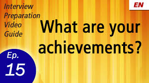 describe your work ethics or style learn by watch embedded thumbnail for what are your achievements