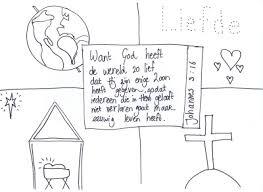 Kleurplaat Liefde Van God