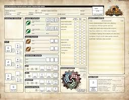 pathfinder kingdom sheet beyond thornwood scrum campaign character sheets