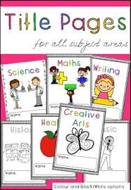 Book Cover Title Pages By Miss Elle Jay Teachers Pay Teachers