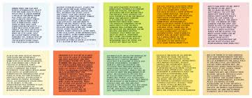 inflammatory essays set of jenny holzer 17 x 17 in 43 18 x 43 18 cm dimensions refer to each offset print