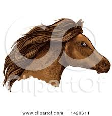 horse head clip art color. Perfect Color Clipart Of A Sketched And Color Filled Brown Horse Head  Royalty Free  Vector Illustration By Tradition SM In Clip Art O