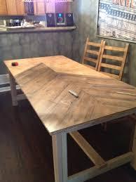 Teal Diy Chevron Wood Table Urban Pig Chevron Wood Table Urban Pig in Diy  Dining Table