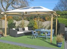 Decorations:Nice Gazebo Outdoor Canopy Design Idea On Grass Located In Back  Yard Endearing Backyard