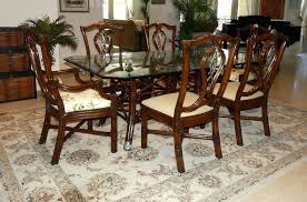smith style rattan dining set room chairs chair table attributed to