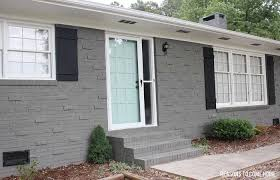 B  Grey Painted Brick House