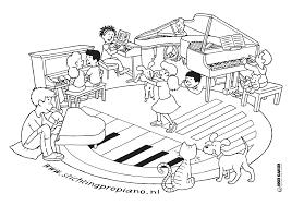 Kleurplaat Piano Culemborg