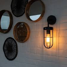 country outdoor wall lamp black with